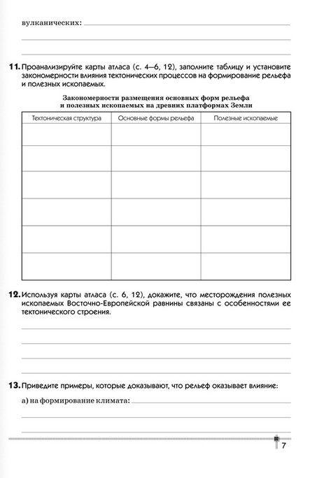 География 8 класс практическая тетрадь 8 класс авторы витченко обух станкевич все ответы