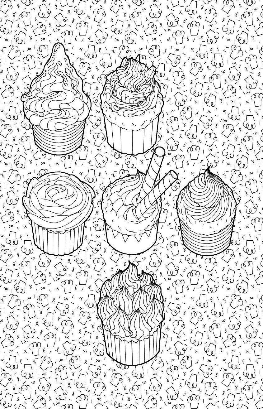 сладости мини раскраска антистресс для творчества и вдохновения