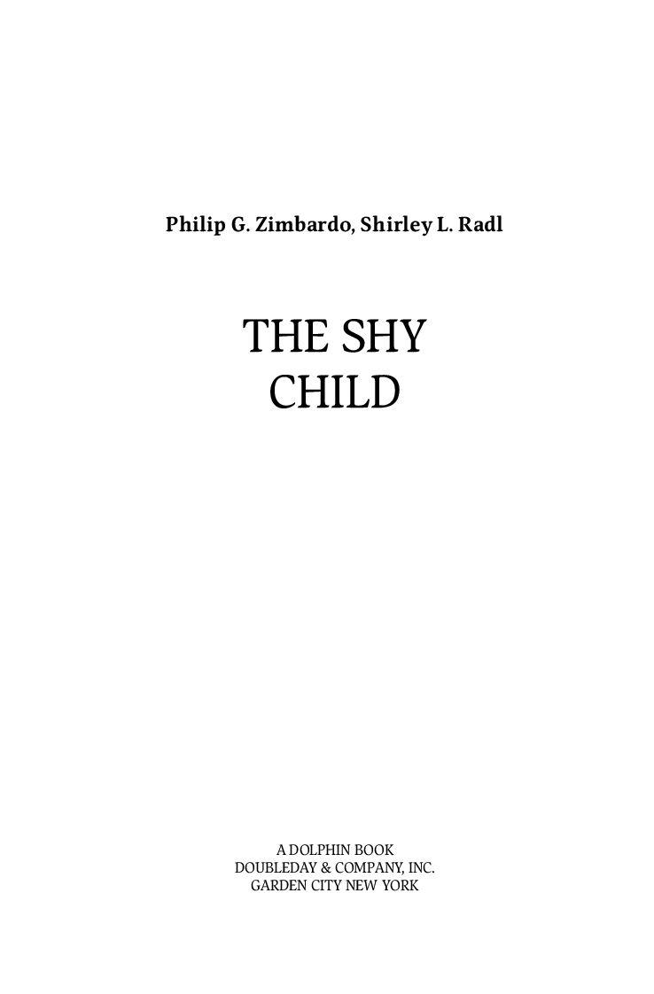 Застенчивый ребенок зимбардо филипп
