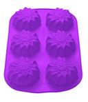Форма силиконовая для выпекания кексов (275x180x30 мм; фиолетовая) — фото, картинка — 2