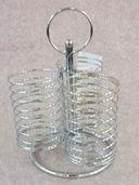 Подставка для столовых приборов металлическая (230х155х155 мм) — фото, картинка — 1