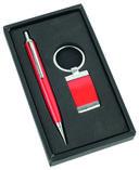 Набор. Ручка, брелок (красный) — фото, картинка — 1
